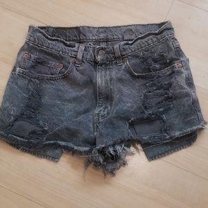 Vintage 501 Orange Tab Distressed Levi Shorts